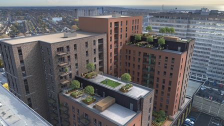Rooftop gardens at Victoria Central, Southend-on-Sea