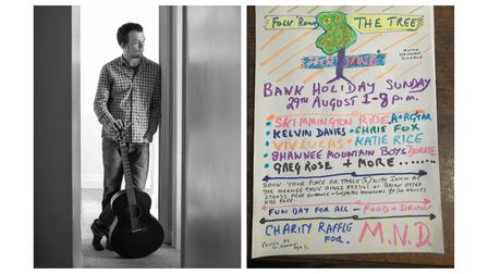 Chris Fox is among the acts set to perform at the Folk Around The Tree festival in Baldock on Sunday, August 29.
