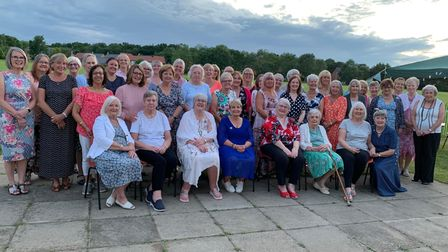 Members and guests at Elsenham WI's centenary party