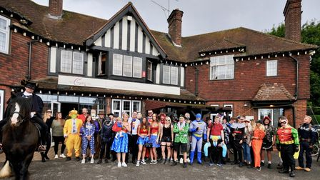 The Chequers Inn in Woolmer Green held its final charity bike ride this week.