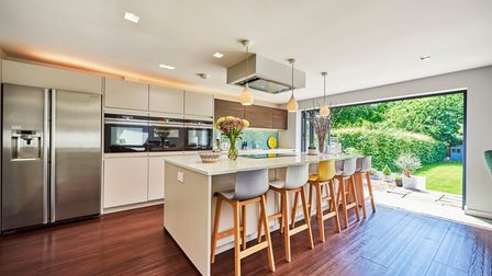 The centre island is a stand out feature of the kitchen.