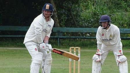 North Devon opener Dan Bowser hits out during a century stand with Ben Howe