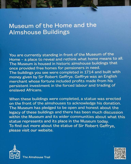 A plaque was installed in time for the Museum's reopening in June this year.