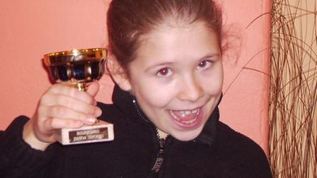 Nic Myers at aged 7 after her first performance competition.