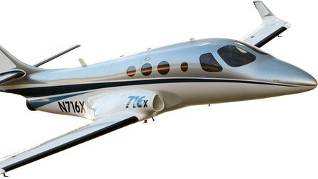 The 716X - the experimental, kit-built version of the planned Stratos 716 light jet