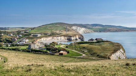 Looking towards Freshwater Bay from Tennyson Down