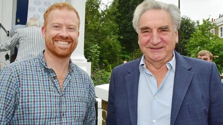 Jim Carter with John Batchelor the current house owner