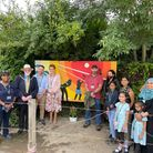 Redbridge mayor Roy Emmett unveiled a mural at the event celebrating the work of the Friends of Loxford Park.