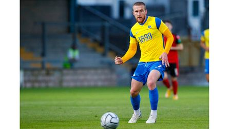 Connor Lemonheigh-Evans of Torquay United during the pre season match between Torquay United and Tru