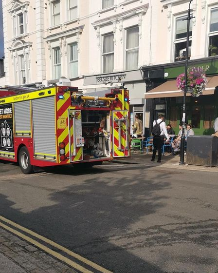 Belsize Village saw a fire on August 24