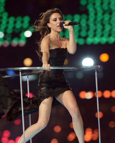 File photo dated 12/08/12 of Victoria Beckham performing during the closing ceremony of the London 2012 Olympics