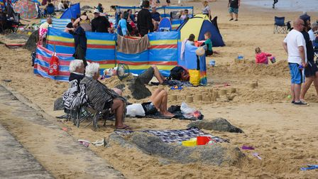 People enjoying the beach at Sea Palling. Picture: Danielle Booden