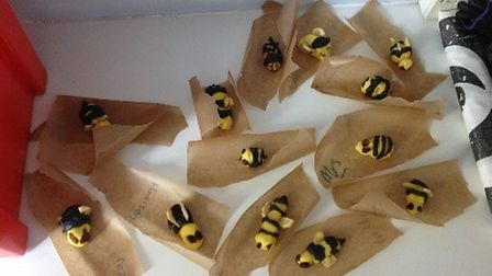 The pupils' marzipan bees