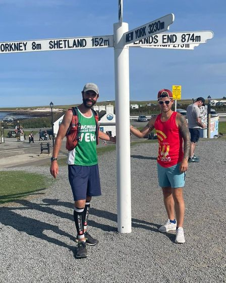 Royston Runners Liam and Grant LEJOG challenge