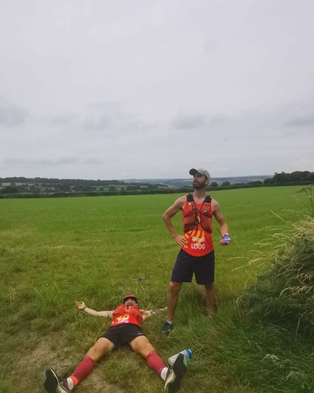 Royston Runners Liam Butler and Grant Chapman LEJOG challenge