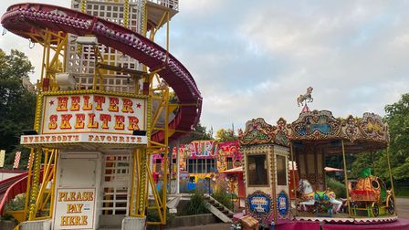 A funfair is running in Chapelfield Gardens in Norwich over the August Bank Holiday weekend.