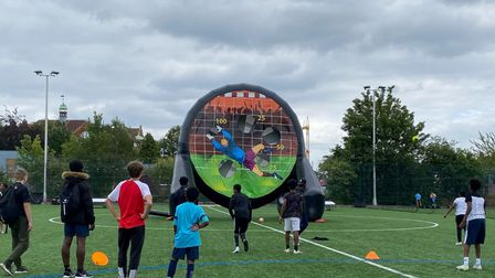 Football was a theme at the Met's crime busting Horizon Project community day in Stonebridge
