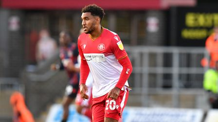 Jamie Reid scored his first goal forStevenage in their Carabao Cup exit to Wycombe Wanderers.