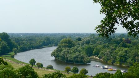 Aerial view of Richmond upon Thames