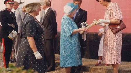 The Queen Mother visited Happisburgh Lighthouse in 1990, to mark the handover from
