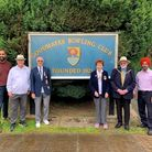 The bowls club was visited by Cllr Roy Emmett, Mayor of Redbridge, and Cllr Jas Athwal, leader of Redbridge Council