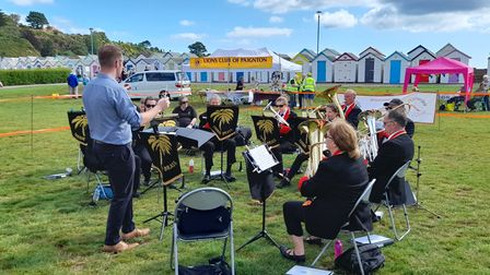 Torbay Brass Band entertain at the fun day.
