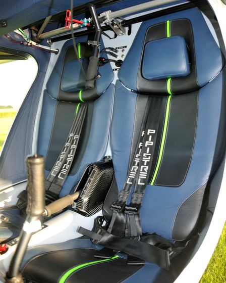Typical installation of the firing handle in a Pipistrel Virus
