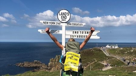 Portishead woman walks John O'Groats to Land's End for Womankind charity.