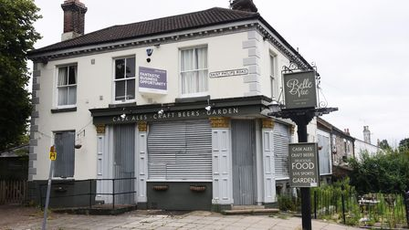 The boarded up Belle Vue pub in St Philips Road. Picture: DENISE BRADLEY