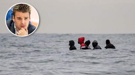 Ipswich MP Tom Hunt, inset, has said he is concerned about the number of illegal immigrants crossing the Channel from France