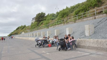 The area where new Beach huts will be placed along the promenade in Lowestoft Byline: Sonya Duncan