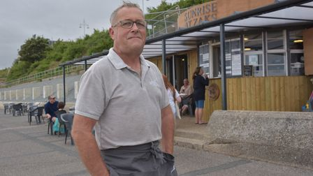 Martin Williams, owner of Sunrise at Zak's, is looking forward to Lowestoft's new beach huts being built
