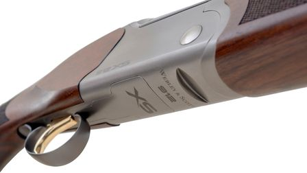 Close up of the underside of the action on the Webley and Scott 912XS shotgun