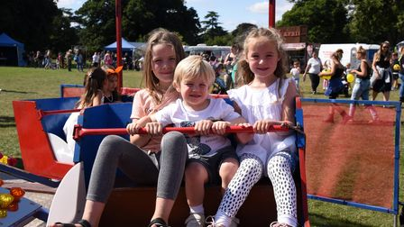 Esme, Albie and Darcey. Chantry park fun day Ipswich Picture: CHARLOTTE BOND