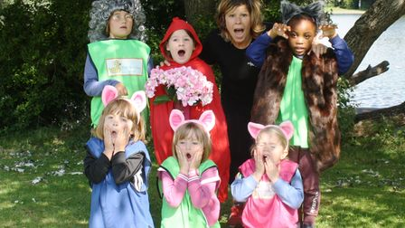 The Holiday Club presenting theLittle Red Riding Hood play at Portishead Lake Grounds.