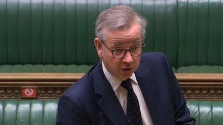 Michael Gove in the House of Commons. Photograph: Parliament TV.