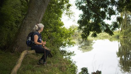 Celia Woolley walked the Ouse Valley way to raise money for two charities.