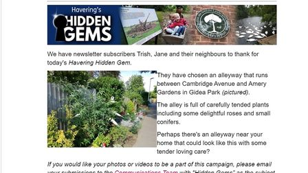 Havering Council newsletter