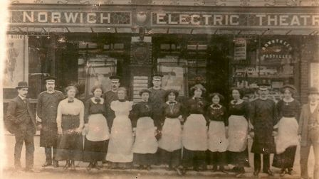 The wonderful old Electric Theatre which opened on Prince of Wales Road, Norwich in 1912