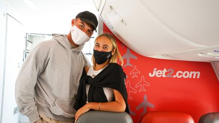 Millie and Liam on plane