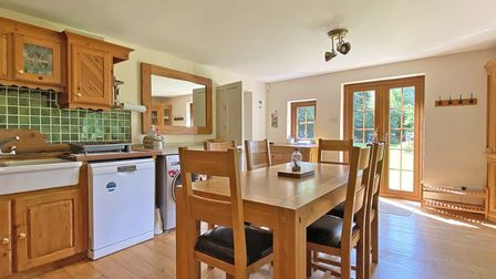 A country kitchen in the houses for sale in Perranporth in Cornwall