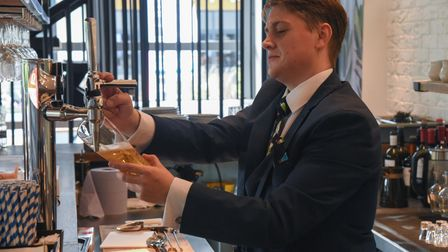 James Mcneely working at The Real Greek at Chantry Place in Norwich. Picture: Danielle Booden