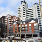 The Mill building and the Winerack on Ipswich Waterfront