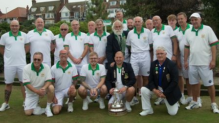 The successful Huntingdonshire side who won the Adams Trophy for the first time.