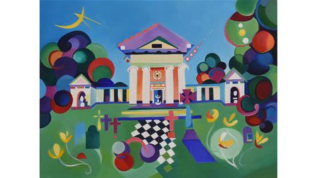 Palladian Dreams painting by Amy Pettingill.