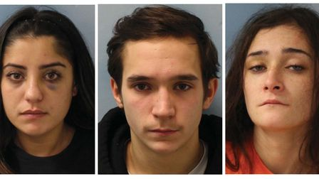 Phoebe Hing, 21, Liam O'Neill, 22 andToni Thompson, 26, have been jailed following an assault in Brent.