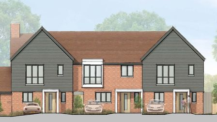 The proposals submitted to the council show how the houses to the rear of The Bell, Codicote will look
