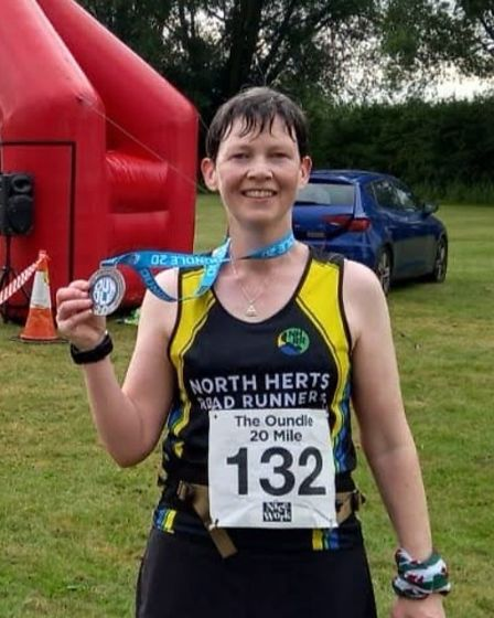Helen Cromack of North Herts Road Runners took part in the Oundle 20-miler.