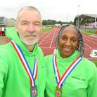 Fairlands Valley Spartans' Dave Stephenson took silver and Tessa Stephenson gold at the national track championships.