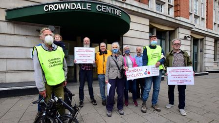 Camden Cyclists outside the Crowndale Centre